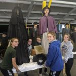 Cambridge Track and Field Teams Help Set Up for Dickens Victorian Village