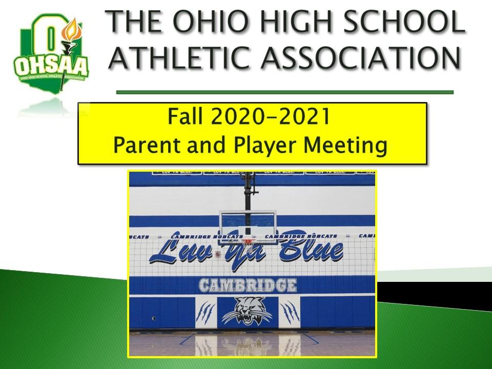 Mandatory OHSAA Parent Meeting Information