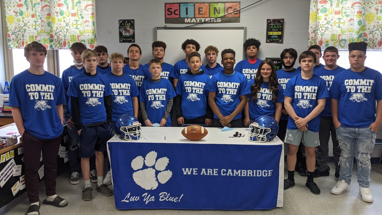 """8th Grade Bobcats Sign their """"Letter of Intent"""""""