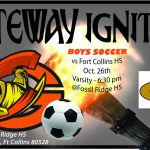 1st Rd Boys Soccer vs Ft Collins HS 6:30pm