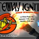 Gateway's Wrestling team vs Vista Peak (Dual Meet)