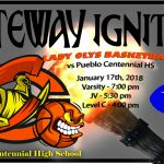 Lady Olys Basketball team travels to Pueblo Centennial HS