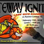Lady Oly Basketball Teams Host Aurora Central
