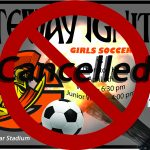 Today's Olympian Women's Soccer Games have been Cancelled.
