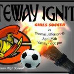 Lady Olympian Varsity Soccer vs Thomas Jefferson