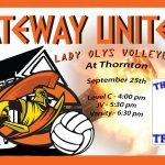 Lady Olys on the road at Thornton HS
