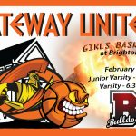 Lady Olys on the road at Brighton HS tonight