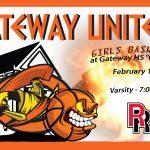 Gateway host Boys/Girls Basketball Games Tonight vs Rangeview