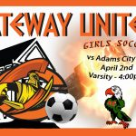Lady Olys Soccer on the road at Adams City