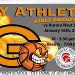 Lady Olympians hosting Aurora West Prep Academy