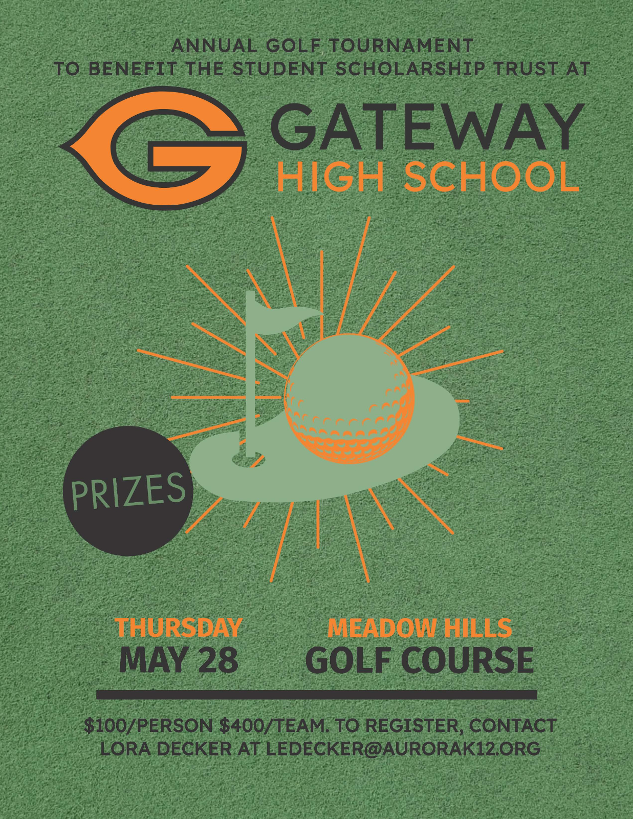 Gateway Golf Tournament May 28th –  Sponsorships and Teams Signups Now Available