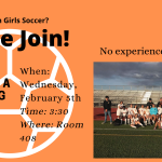 Lady Olympian Soccer Meeting – February 5th