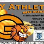 Oly Basketball back in action on Jeff Sweet Court vs Westminster
