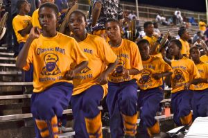 Marching 100 at the St. Aug vs. Scotlandville Game
