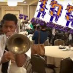 St. Aug Brass Band performs for Catholic Charities