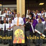 Son of a Saint's Sonny Lee visits St. Aug