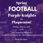 Football Spring Game Set for Friday, May 13, 7 p.m.