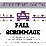 Fall Scrimmage – Thursday, August 18, 5:30 p.m.
