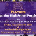 St. Aug Playoff Game: Friday Nov. 18