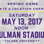 Spring Game Moved to Saturday May 13, Yulman Stadium