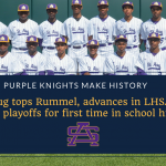 Purple Knights advance in LHSAA baseball playoffs for first time in St. Aug history