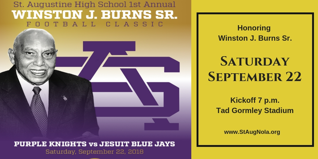 St. Augustine High School honors Winston J. Burns Sr. with Football Classic