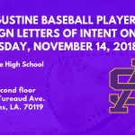 St. Augustine Baseball Players to sign Letters of Intent on Wednesday