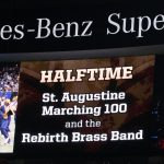Marching 100: Saints game halftime performance Photos