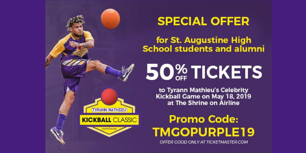 Tyrann Mathieu's Celebrity Kickball Classic – Featuring the Marching 100: May 18