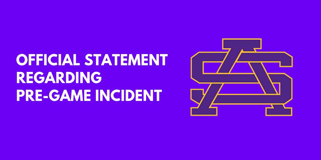 Statement Regarding Pre-Game Incident