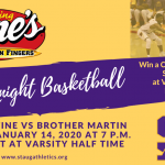 St. Augustine Basketball – Cane's Challenge Night: Tuesday, Jan 14.