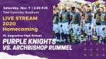 TODAY! St. Augustine v. Archbishop Rummel: Saturday, November 7, 2:30 pm.