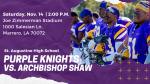St. Augustine vs. Archbishop Shaw: Saturday, November 14, 2 P.M.
