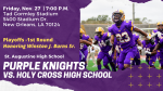 St. Augustine to honor Winston J. Burns Sr., at Playoff Game