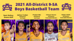 5 Purple Knights named to the All-District 9-5A Boys Basketball Team