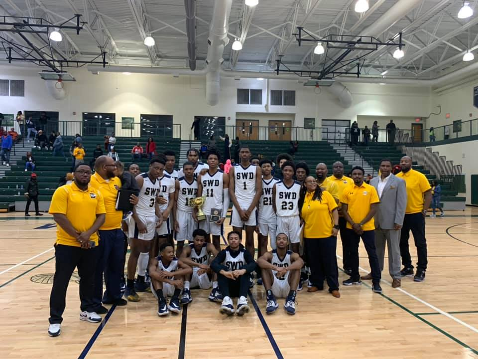 The SWD Varsity Boys Basketball Team claimed the title REGION CHAMPS again. Back2Back. Great Job!!!