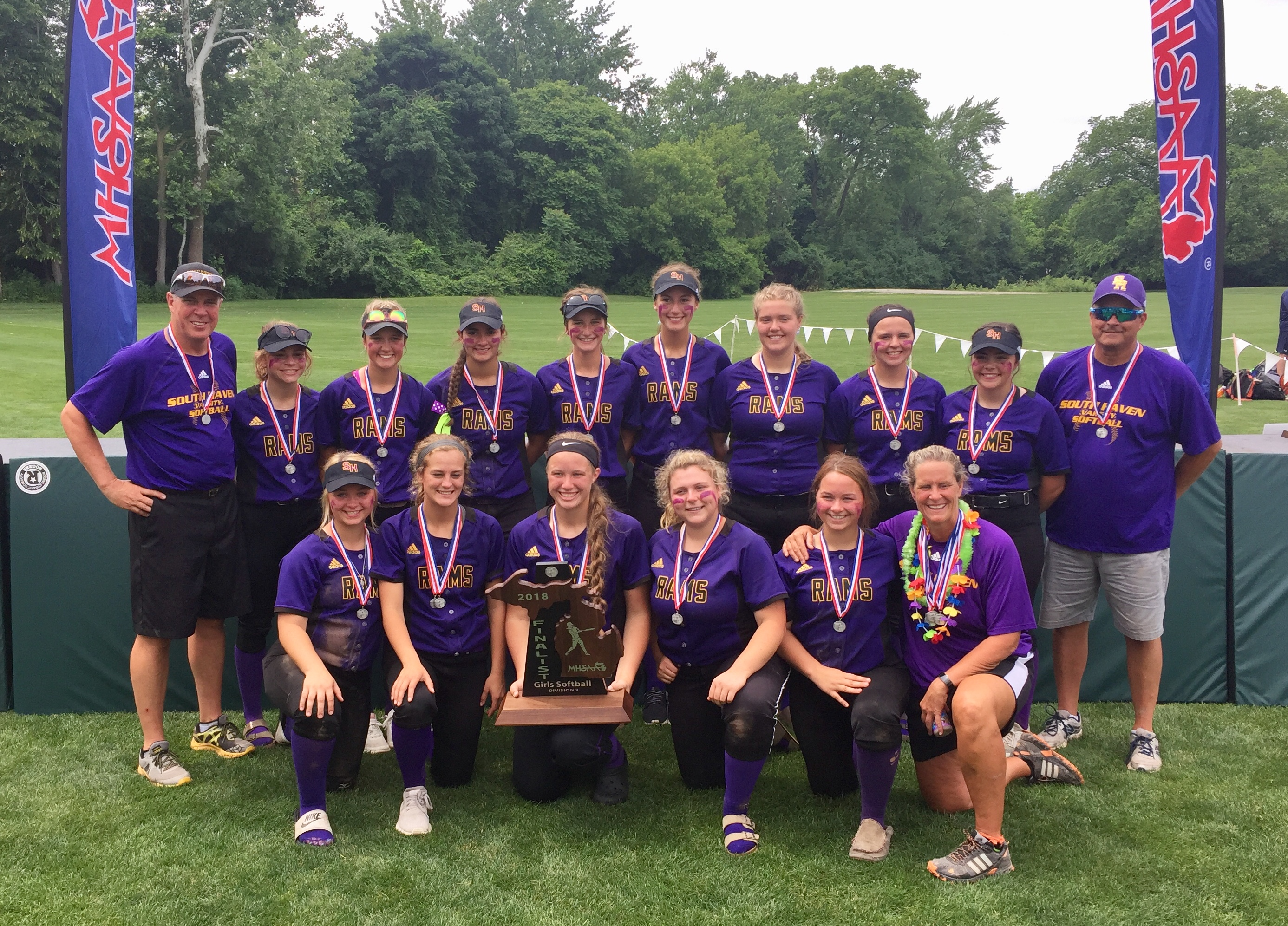 South Haven Softball Team Falls to Escanaba in State Finals