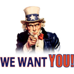 We Want You!!!