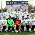 Shelby High School Boys Varsity Soccer beat Burns High School 5-0