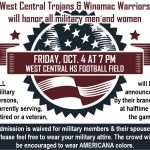 West Central Football hosting Military Appreciation Night vs. Winamac
