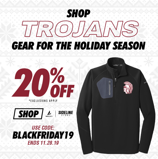 Holiday Promotion on Trojan Athletic Gear