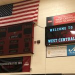 West Central Gymnasium Signage Display Installed