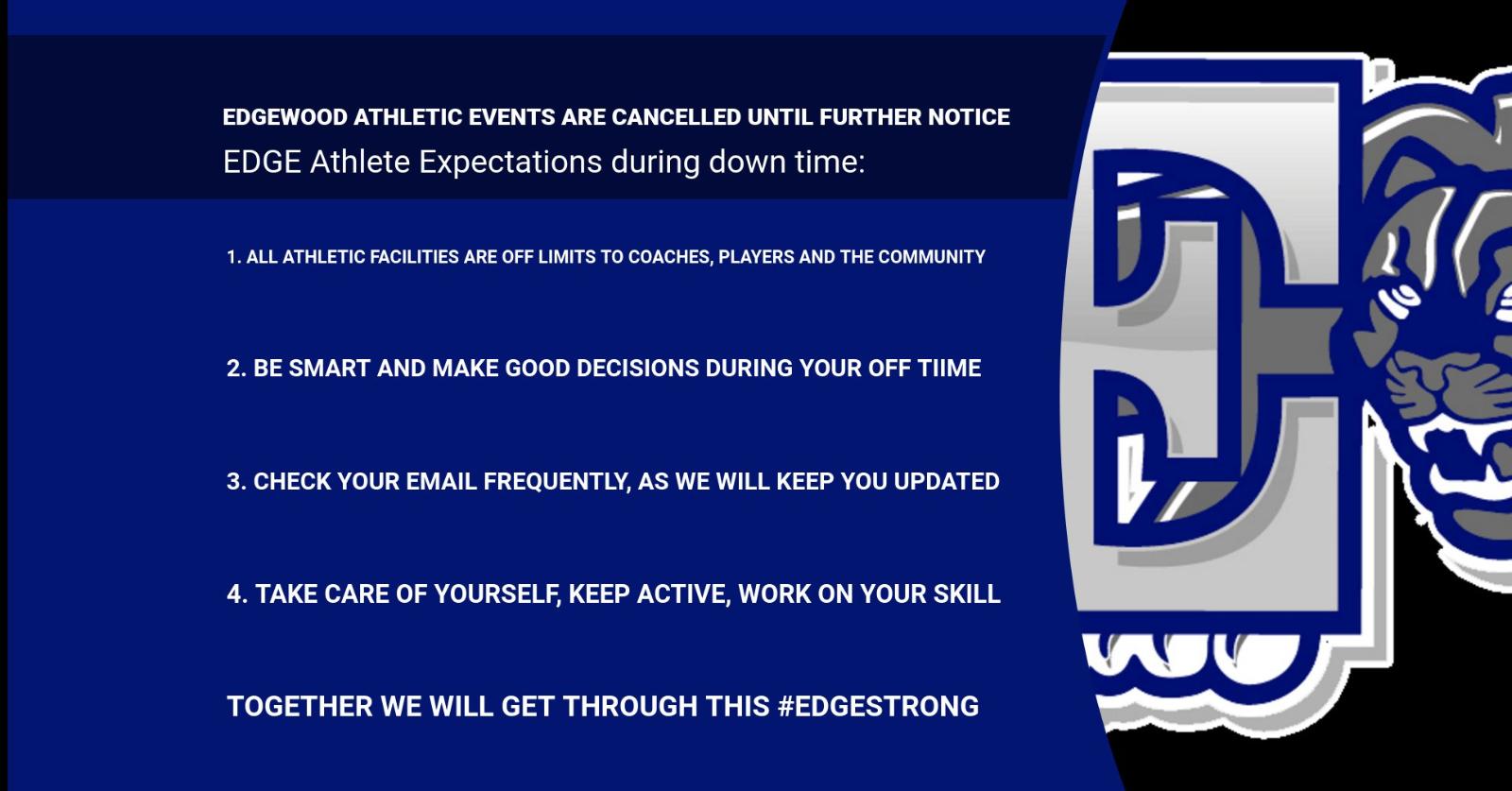 Edgewood Athletics Update: