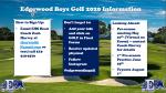 EHS Boys Golf 2020-2021 School Year