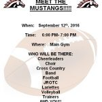 Next Week, Save the Date: MEET THE MUSTANGS!