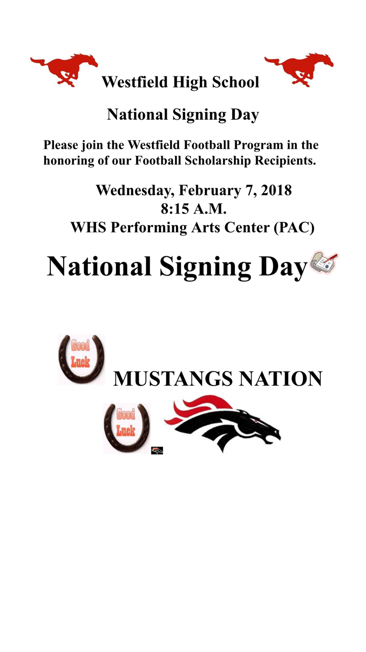 Westfield High School National Signing Day