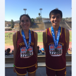 Jonathan Pfeiffer and Daniela De La Torre Medal at Mt. Sac Invitational