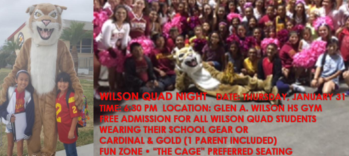 January 31st Wilson Quad Night