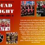 Wilson Quad Night Thursday February 6th