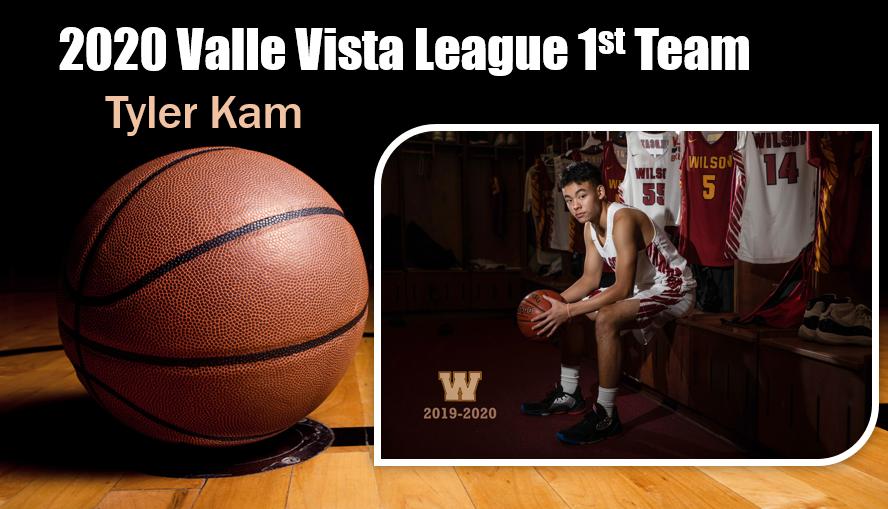 Boys Basketball 2020 Valle Vista 1st Team – Tyler Kam